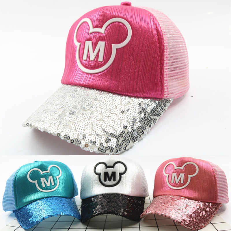 040291533cb 2018 New Fashion Kids Hat Cute Cartoon Mouse Mickey Minnie Baseball Caps  For Children Boys Girls