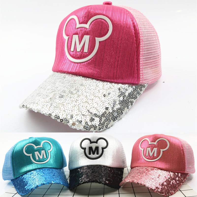 2018 New Fashion Kids Hat Cute Cartoon Mouse Mickey Minnie Baseball Caps  For Children Boys Girls Adumbral Freely Adjustable Caps c954fe91eb65