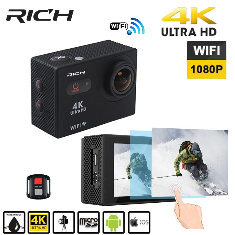 RICH S35 4k wifi Ultra HD Waterproof Digital DV Action Camera Sport Helmet Cam Full HD 1080p Go Waterproof pro Tough Screen cam