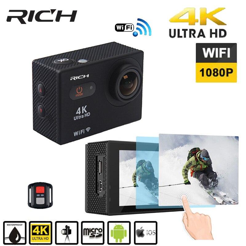 Galleria fotografica RICH S35 4k wifi Ultra HD Waterproof Digital DV Action Camera Sport Helmet Cam Full HD 1080p Go Waterproof pro Tough Screen cam