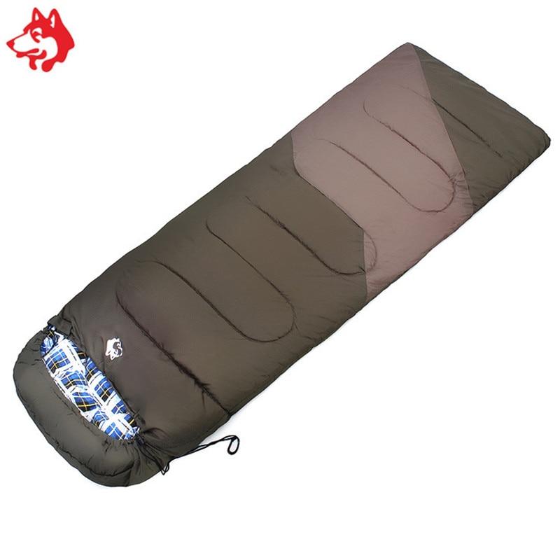 cotton filling envelope sleeping bag outdoor waterproof camping gear 5 celsius Orange Blue Army Green sleeping