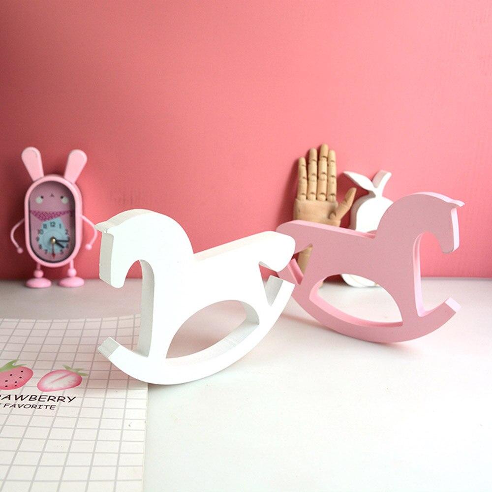 ใหม่ไม้ของเล่นม้าสำหรับห้องเด็กตกแต่งสไตล์นอร์ดิกสำหรับห้องเด็กของขวัญเด็กวันเกิดสแกน...