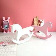 חדש עץ סוס צעצועי תינוק חדר תפאורה נורדי סגנון לחדר ילדים מתנות לילדים יום הולדת סקנדינבי דקור