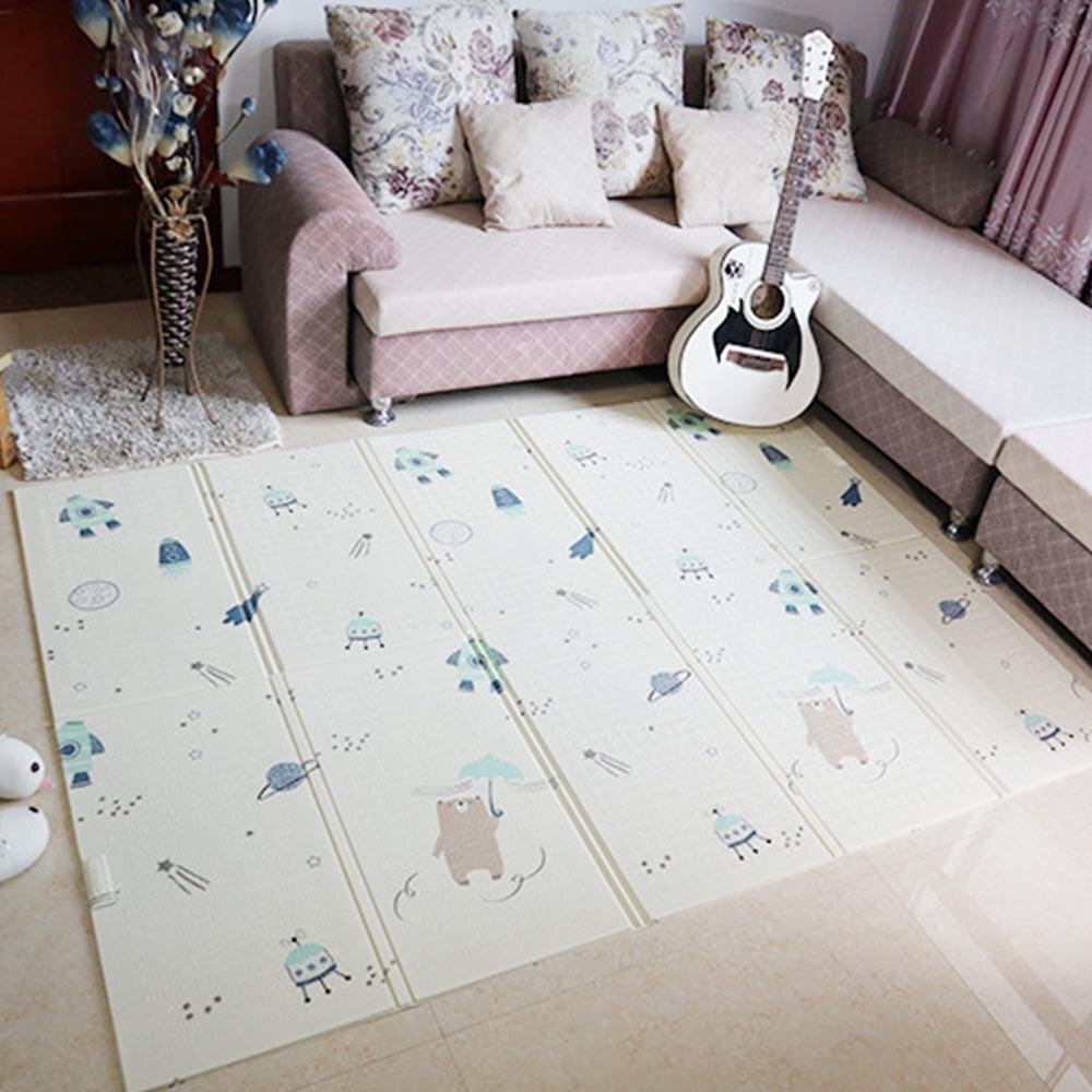 Tapis de jeu pour enfants pliant Puzzle tapis de jeu tapis de jeu pour nourrissons 150*200*1 CM mousse tapis rampant Pack et matelas de jeu