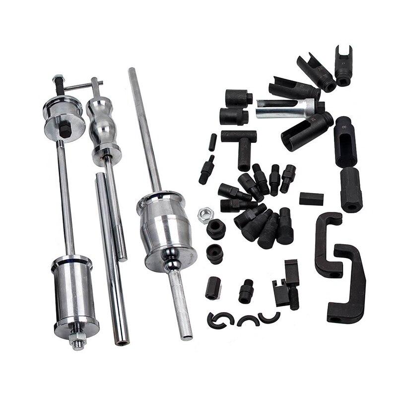 Купить с кэшбэком Diesel Injector Extractor 40Pc Diesel Injector Extractor  With Common Rail Adaptor Slide Hammer Tool Set