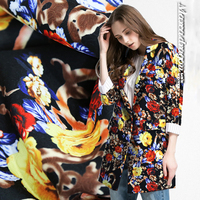 Feel Great Printed Jacquard Material Skirts Dresses Trench Coat Fabric Cloth