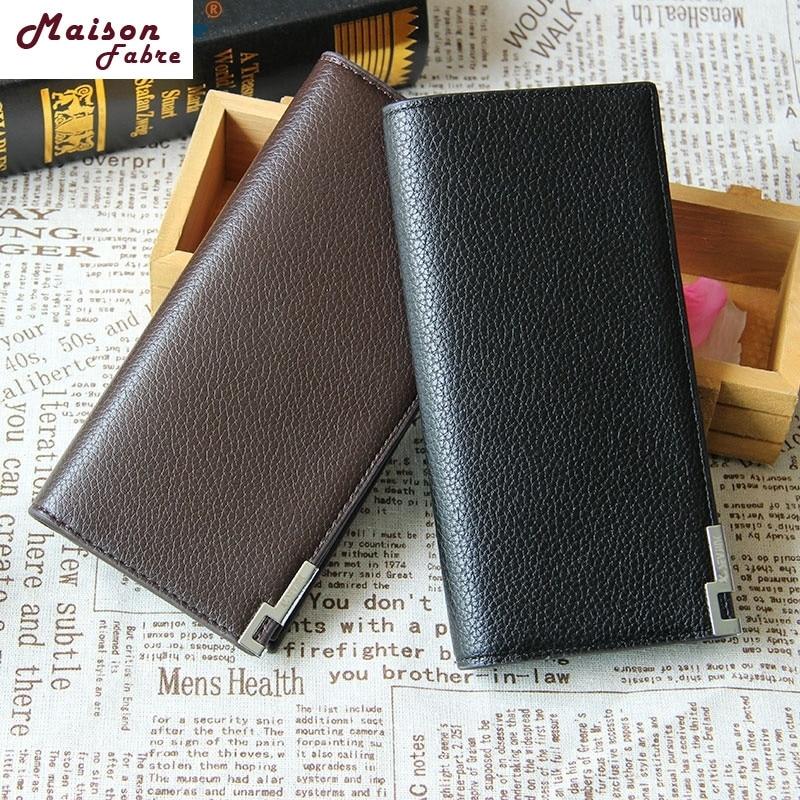 Maison Fabre Jasmine Fashion Men Bifold Leather Long Wallet Card Holder Coin Wallet Purse Dec21 danielle foster сумка на руку