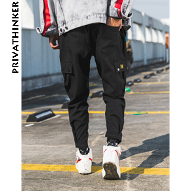 Joggers Pants Summer Big Pockets Ankel Cargo Male Spring Streetwear Overalls 3