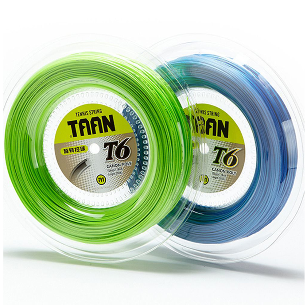 1 Reel TAAN T6 Tennis Racket String 200m Tennis Strings 1.18mm Soft Comfortable Tennis Racket strings new replacement 200m reel racquet tennis string power rough 1 25mm tennis racket string promotion soft nylon tennis racket line