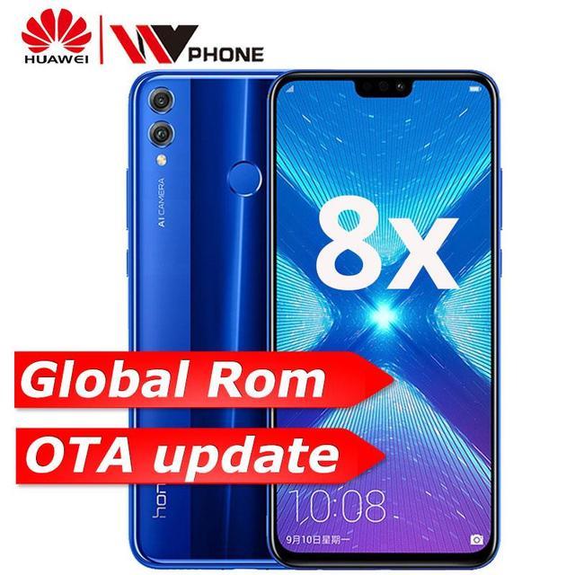 Глобальная ПЗУ Honor 8X OTA обновление smartmobile Kirin 710 Восьмиядерный Android 8,1 сканер отпечатков пальцев 6,5 ''полный экран 3750 мАч батарея