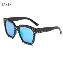 JAXINCute handsome boy girl square sunglasses fashion coating cool new personality trend wild multicolor glassesUV400