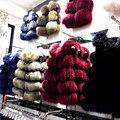 Розничная/оптовая Леди Енота Натуральный Мех Жилет Натурального Меха Жилет Женщин Неподдельной Кожи зимние девушки теплая верхняя одежда Мех жилет пальто