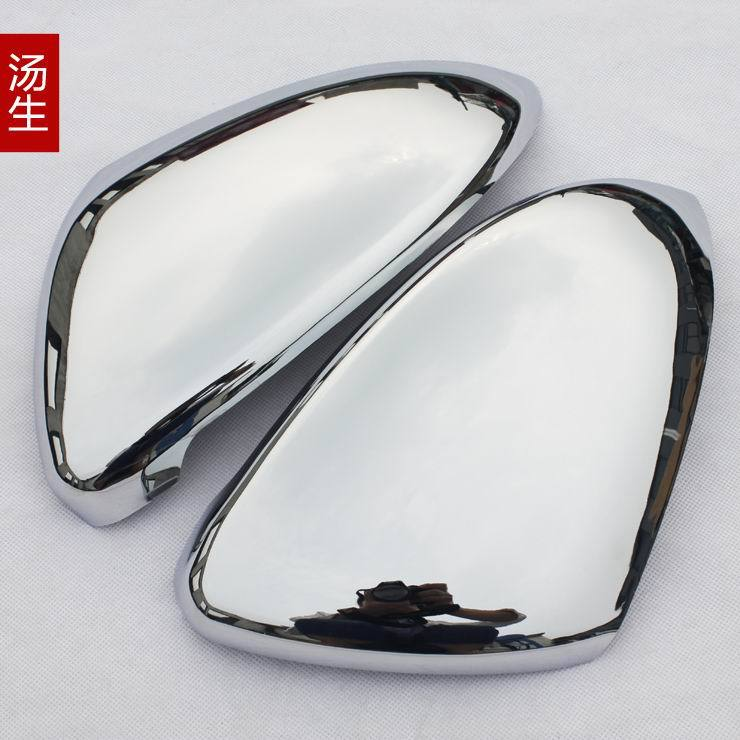 Chrome Plated ABS Car Door Wing Mirror Glass Styling Covers 2pcs For VW Volkswagen Golf 7 ( GTI 7 Mk7 13-14 ) real carbon fiber mirror cover case for vw golf 7 mk7 gti tsi vii jdm 2013 2015 [1031001]