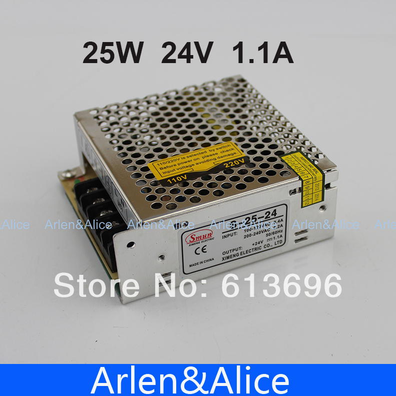 все цены на  25W 24V 1.1A Single Output Switching power supply AC TO DC SMPS  онлайн