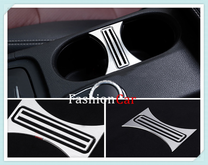 <font><b>Interior</b></font> Water Cup Holder Cover Trim For <font><b>Mercedes</b></font> Benz A Class <font><b>W176</b></font> / CLA C117 W117 / GLA X156 image
