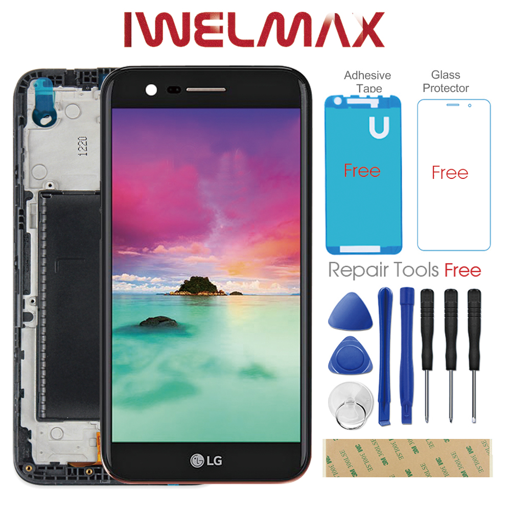 Tested 5.3 inch Original 1280x720 Display LG K10 2017 LCD with Touch Screen Digitizer K10 2017 Display M250 M250N M250E M250DS