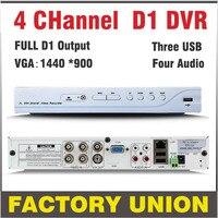 DVR 4 Channel H264 Full D1 Dvr 4ch Recording Support Network Mobile Phone Cctv Dvr Recorder