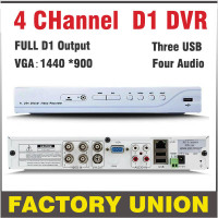 DVR 4 Channel H264 Full D1 Dvr 4ch Recording Support Network Mobile Phone Cctv Dvr Recorder