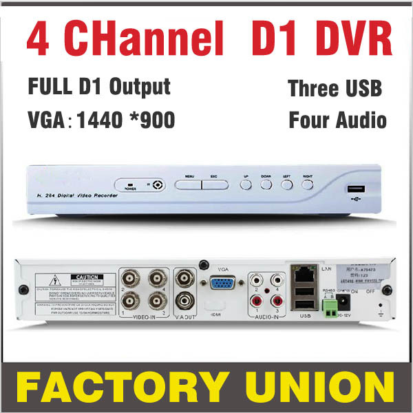 DVR 4 channel H 264 Full D1 CCTV DVR Recorder 4ch support Network Mobile Phone cctv dvr 4ch digital video recorder system remote wireless touch switch 1 gang 1 way crystal glass switch touch screen wall switch for smart home light free shipping