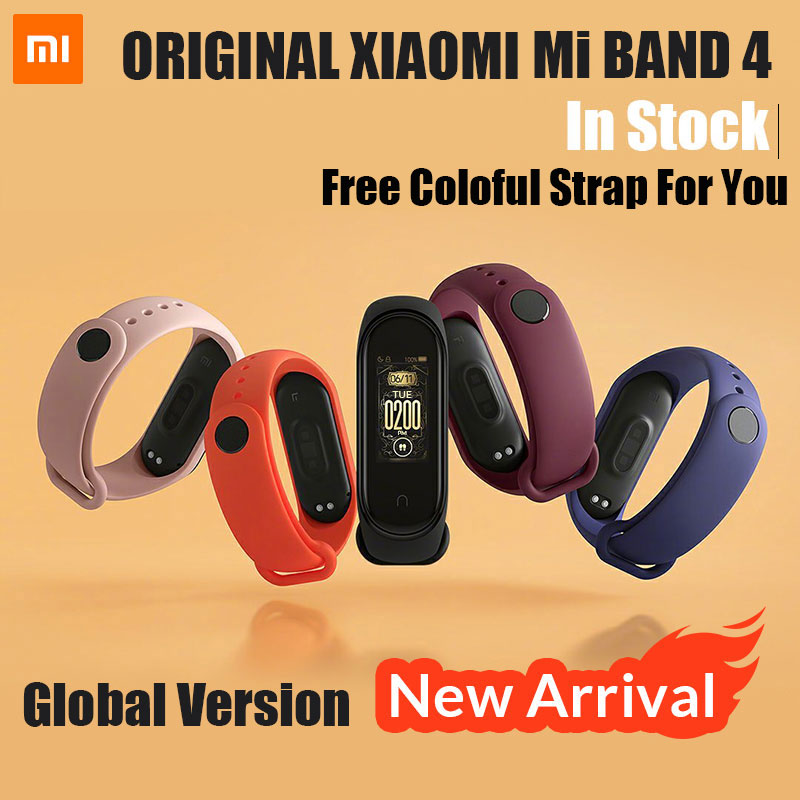 Xiao mi bande 4 Original 2019 nouvelle musique Smart mi bande 4 Bracelet fréquence cardiaque Fitness 135 mAh couleur écran Bluetooth 5.0