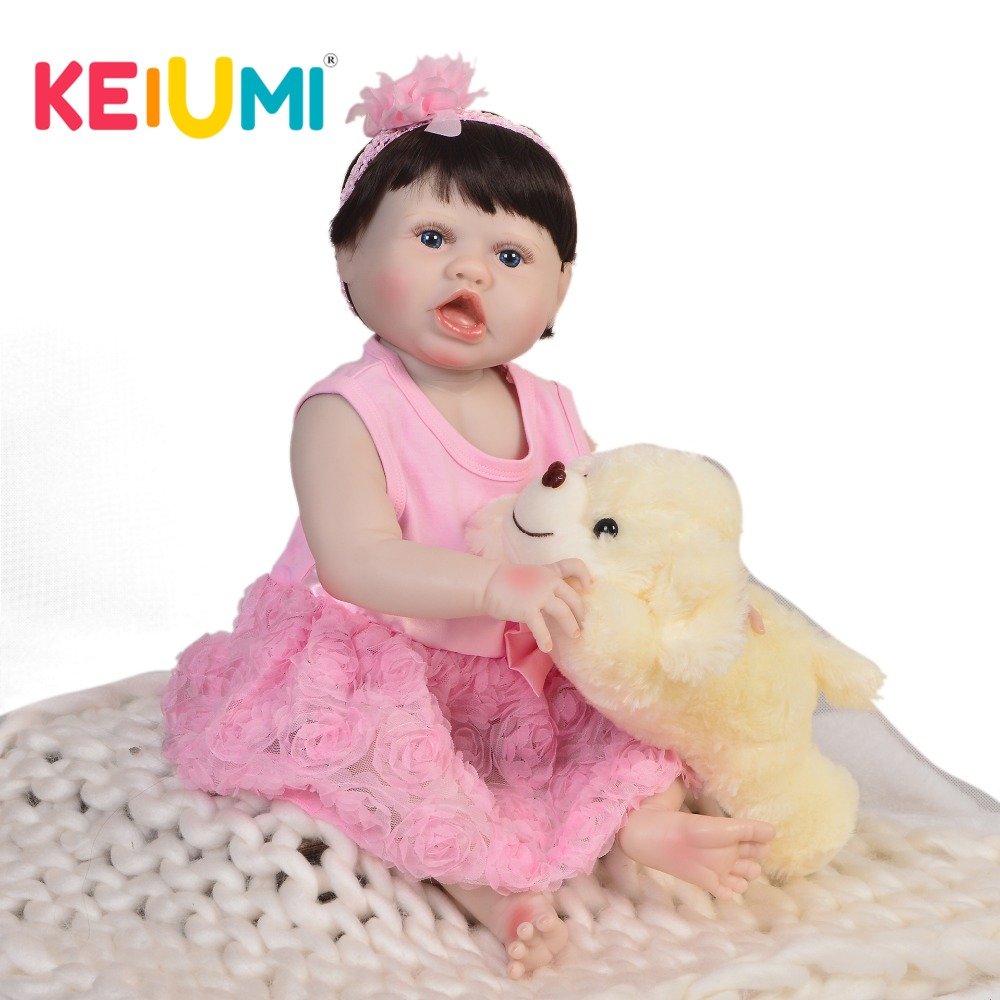 Realistic 23 Inch Dolls Reborn Babies Full Body Silicone Vinyl 57 cm Newborn Baby Dolls DIY Toys For kids Birthday Gifts 22 inch lovely reborn baby dolls full vinyl body silicone newborn baby reborn 55 cm girl realistic princess kids birthday gifts