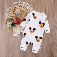 Newborn Infant Baby Boy Girls Mickey Jumpsuit Bodysuit Outfit Clothes Set