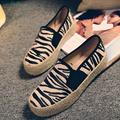 Zebra Loafers shoes Leopard women doug shoes canvas shoes lazy a pedal tide