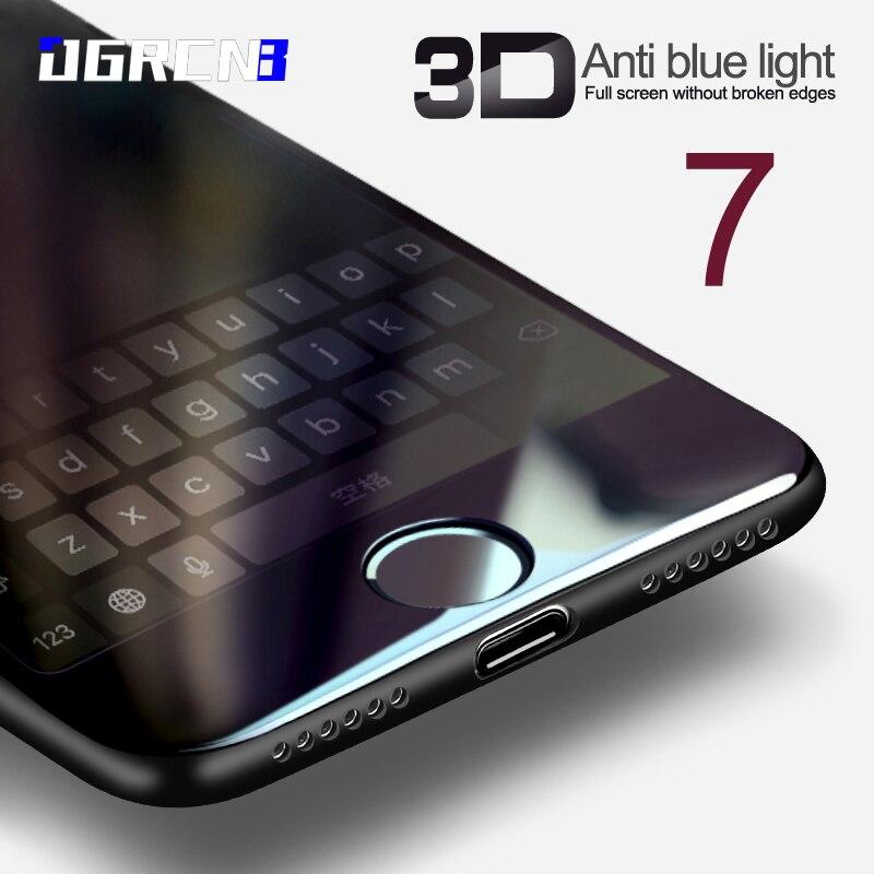 แก้ว3DสำหรับiPhone 7 6 6วินาทีบวกป้องกันหน้าจอรอบโค้งขอบพรีเมี่ยมนิรภัยเต็มปกคลุมสำหรับip hone 7พลัส...