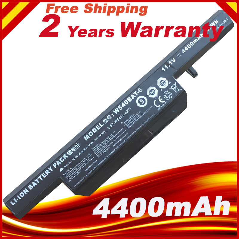 4400mAh W540bat-6 Battery For Licr19/66-2 6-87-w540s-4w41 W155u W540eu W54eu W550 W550eu W55eu W540 Series