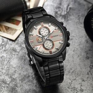 Image 3 - NEW CURREN Luxury Brand Men Full Steel Business Wristwatches Man Casual Waterproof Watch Quartz Watches relogio masculino