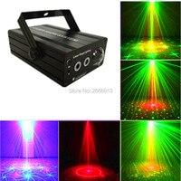 RG Mini 3 Lente 24 Patrones LED Proyector Láser Etapa de Iluminación Efecto 3 W Azul Para El Partido Del Disco de DJ Del Club láser