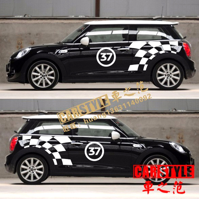 Brand New Oracal Style Car Body Sticker Jcw Pattern For Mini Cooper F56 R55 R56 R57