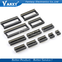 10PCS IC Sockets DIP6 DIP8 DIP14 DIP16 DIP18 DIP20 DIP28 DIP40 pins Connector DIP Socket 6 8 14 16 18 20 24 28 40 pin цена
