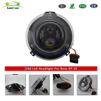 Pair Lantsun J240 7 Inch 75w Round Led Projector Headlight With Half Ring For Maercedes Benz