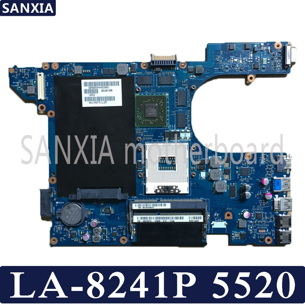KEFU QCL00 LA 8241P Laptop motherboard for Dell Inspiron 5520 Test original mainboard with Video card