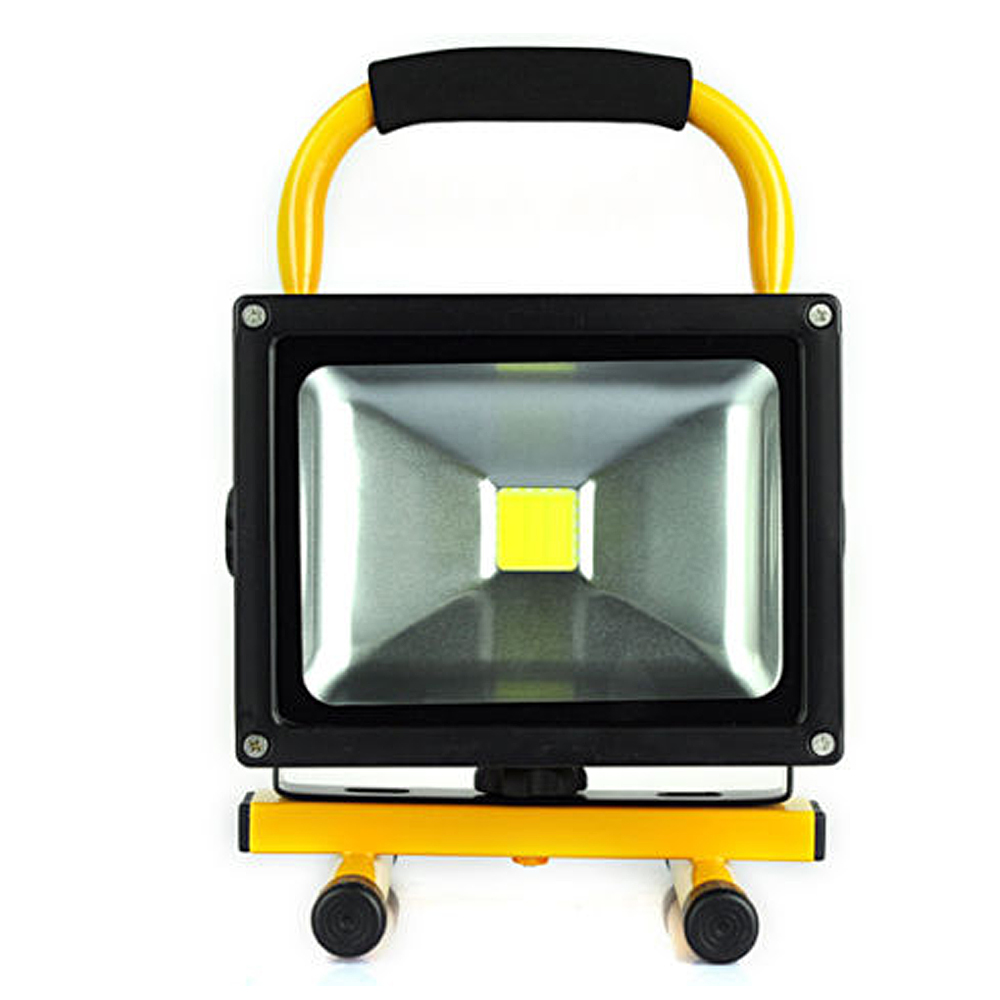 led rechargeable floodlight 20w cordless rechargeable led flood light portable led work light. Black Bedroom Furniture Sets. Home Design Ideas