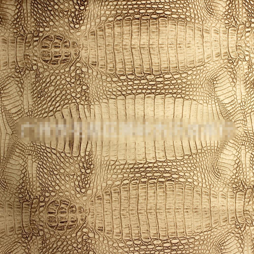 0.8mm PU Artificial Leather / Crocodile Leather For Handbags And Luggage /  Decorative Leather Sofa Material / African Crocodile In Synthetic Leather  From ...