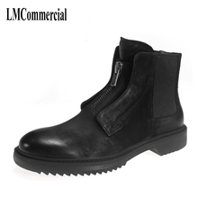 new autumn winter British retro men shoes boots high Riding boots tide male leather boots England  breathable fashion casual new autumn winter british retro high male boots leather cowhide cashmere zipper leather shoes breathable fashion boots men