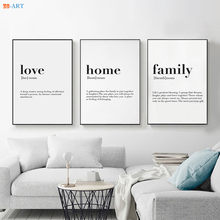 Nordic Minimalist Family Quote Wall Art Canvas Poster Print Painting Wall Pictures for Living Room Home Decor(China)