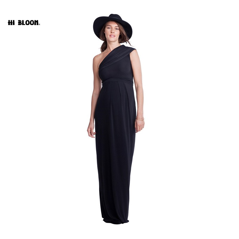 Mother's Day One Shoulder Long Formal Evening Gowns For Pregnant Women Elegant Maternity Dress Office Lady Party Vestidos S-XXXL mother s day new summer long maternity evening party dress prenancy clothes v neck for women gowns noble vestidos hot