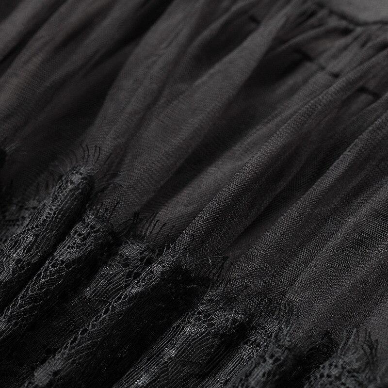 Européen Soirée À Style Split De Perspective Robe Élégant Black Qualité Sexy Travers Femme Piste Robes Noir Maille Haute Dentelle Voir tqRxCBwn