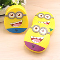 Cartoon Colored Cosmetic Contact lens case with mirror contact lens case cute Lovely Travel box Eyewear Accessories