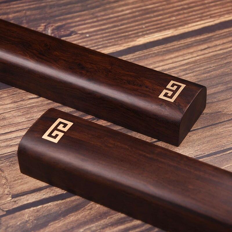 Presse-papiers en bois de santal de qualité fournitures de peinture et d'écriture chinoises pour artiste peinture calligraphie presse-papiers fournitures d'art - 4
