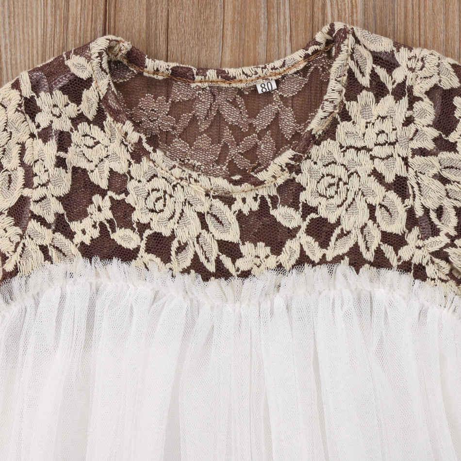 c2e4084435c20 Girls Dresses Kids Baby Girls Princess Party Lace Tutu Long Sleeve Dress  Floral Cotton Clothes 6M-5T