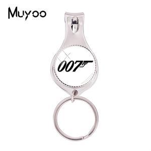 2018 Мода 007 многофункциональный брелок для ключей клипер для ногтей из фильма стекло ручной работы ювелирные изделия круглые кусачки для ног...