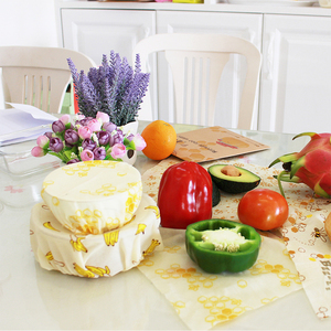 Image 2 - Reusable Beeswax Cloth Wrap Food Fresh Bag Lid Cover Stretch Lid Jungle Party Bees wax wrap plastic wrap