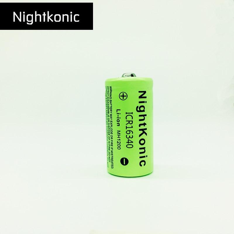 Оригинальная Nightkonic 3,7 V Li Ion ICR 16340 перезаряжаемая батарея 700 mAh литиевая батарея для светодиодной вспышки велосипед головной убор Перезаряжаемые батареи      АлиЭкспресс