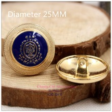 1572116 25mm 10pcs,Gold metal button,high quality British style classic fashion buttons clothes-diy handmade