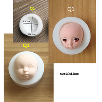 3D Cute Baby Face Silicone Mould Chocolate Candy Pudding Clay Mold BJD SD Doll Head Mould