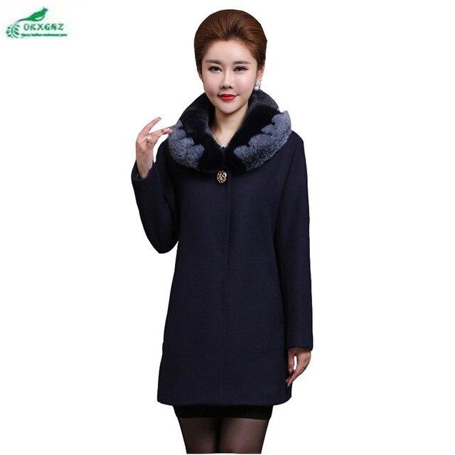 59e2157278e Hiver nouveau 50-60 ans mère chargé laine veste personnes âgées mode grande  taille vêtements
